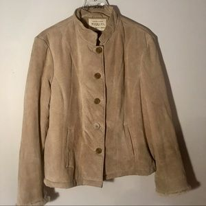 Maurice's Tan Suede Coat Size XL